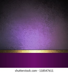Black Gold and Purple Background