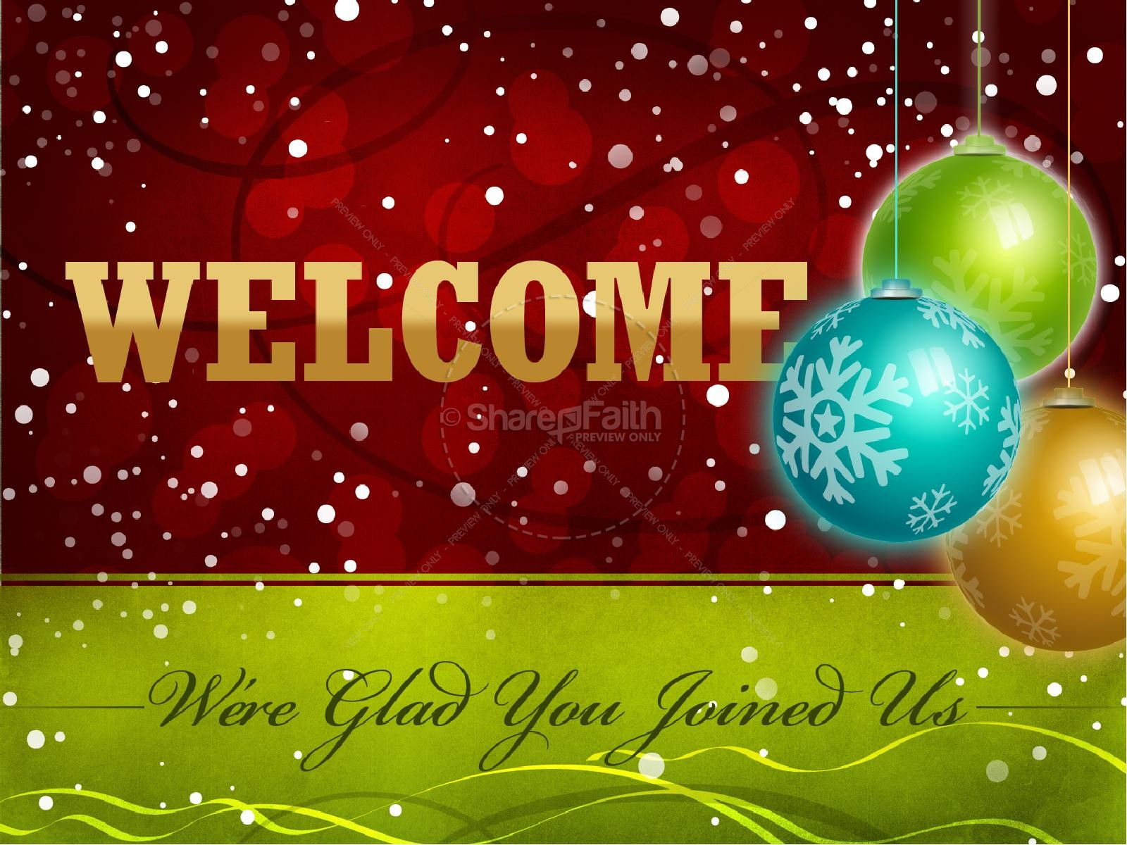 Christmas Welcome PowerPoint Background