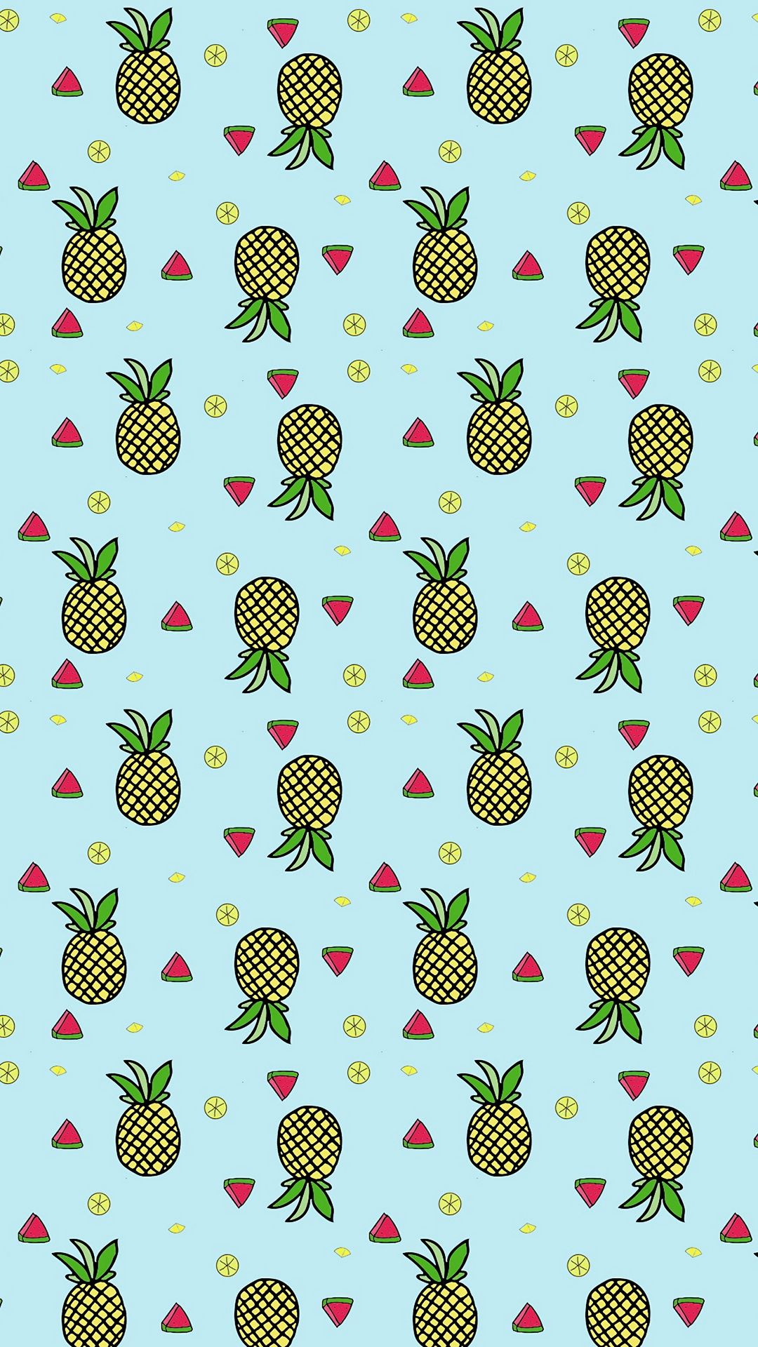 Black and White Pineapple Background